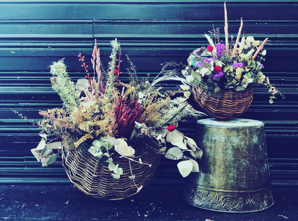 Dried & Faux - Flower Basket