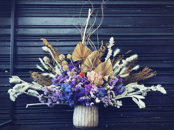 Dried & Faux - Purple and Rustic Arrangement
