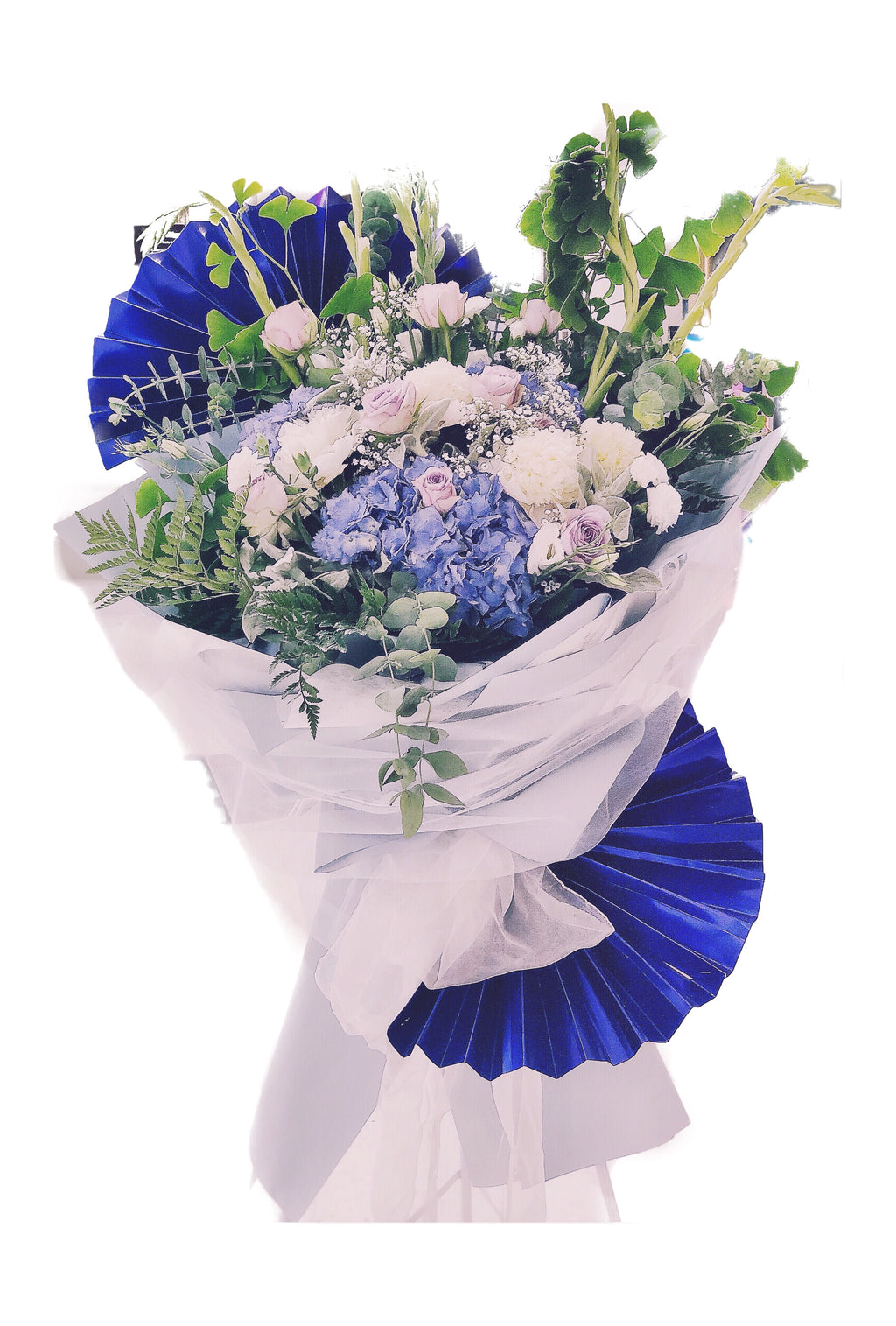 Floral Stand - Navy