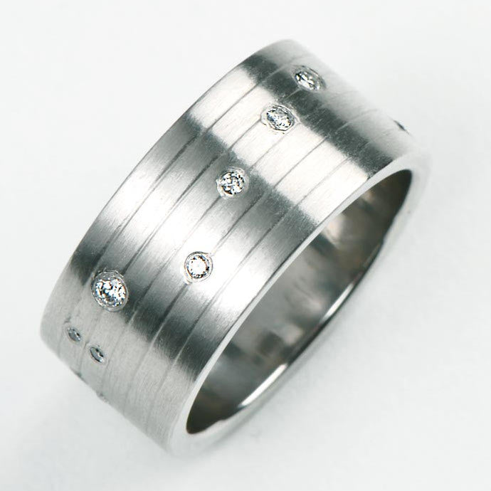 A wedding ring that's different and special.