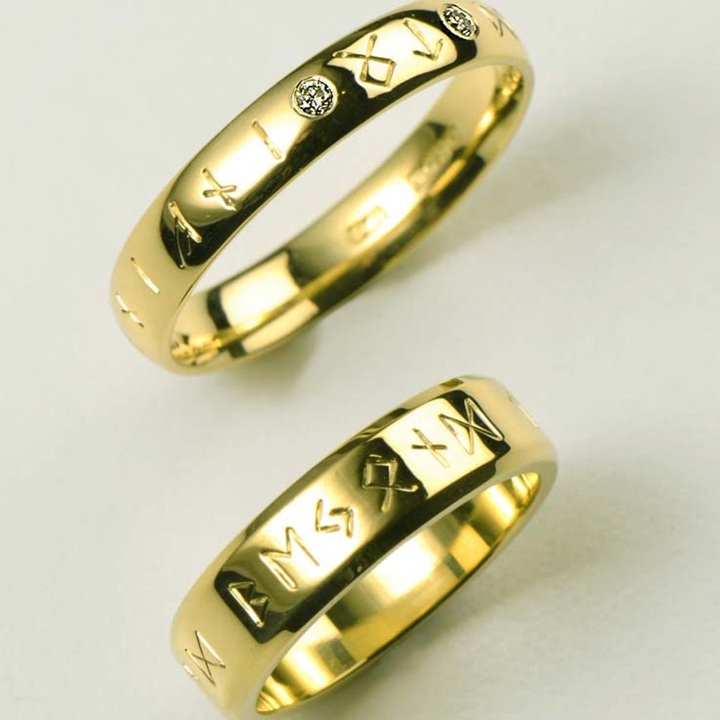 Wedding rings with special meaning in any width or precious metal