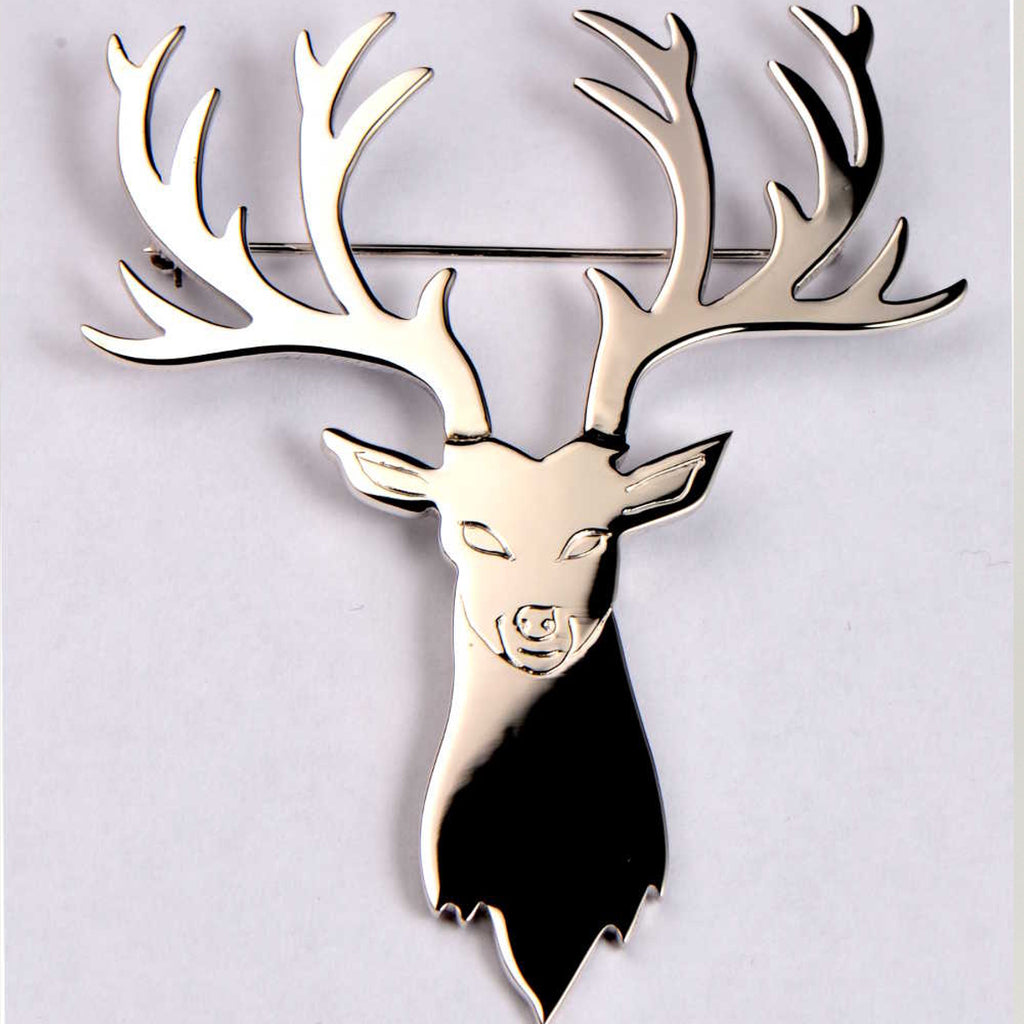 Handmade stag kilt pin for a husband and two sons