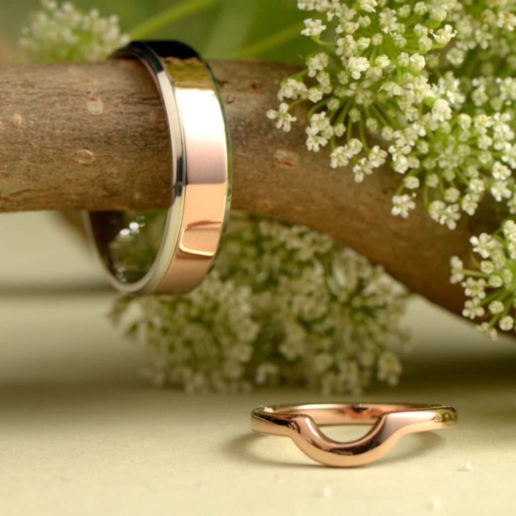 Handmade wedding rings made by commission