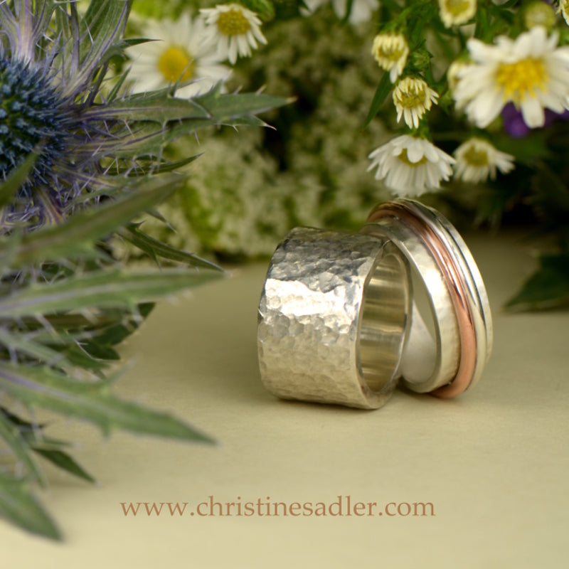 Silver wedding rings that are really special.