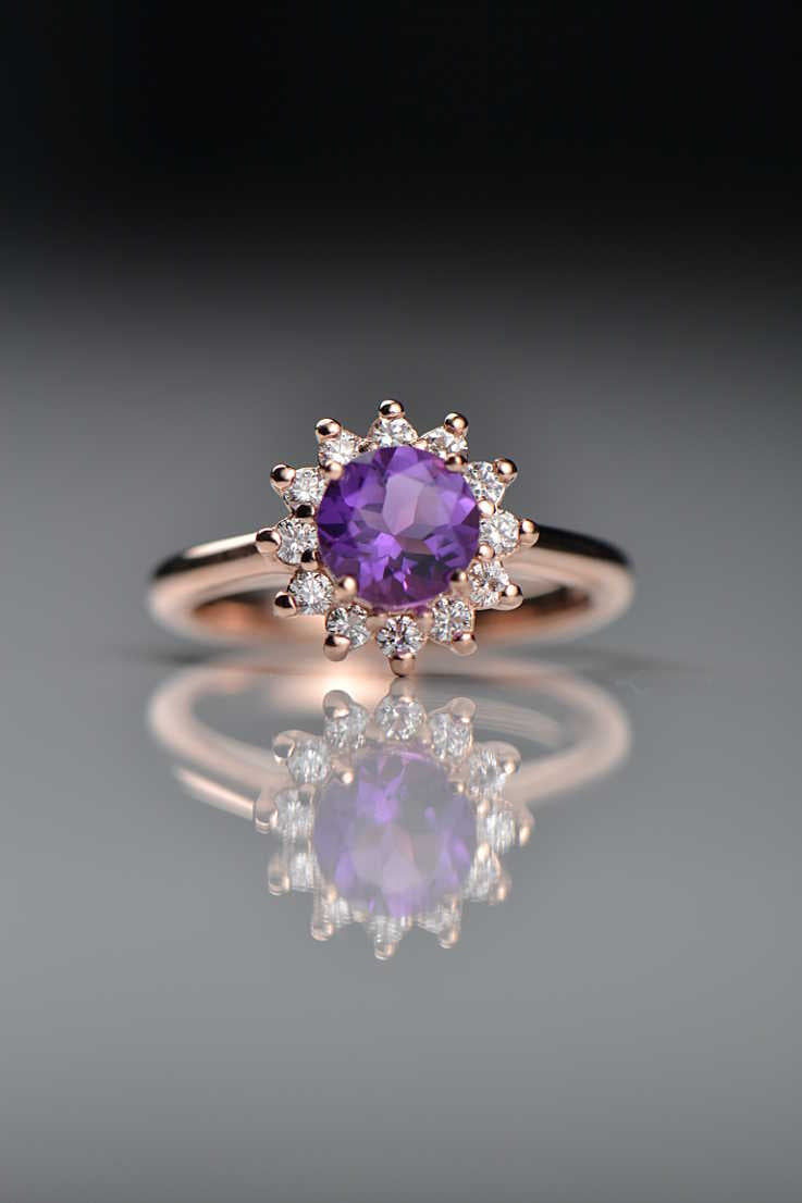 amethyst-diamond-flower-ring