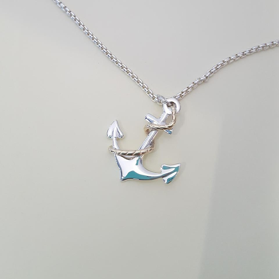 anchor-silver-gold-pendant