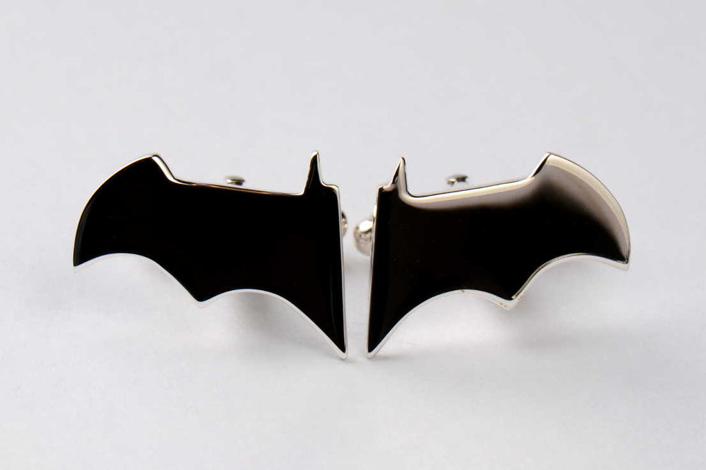 batman-inspired-silver-cufflinks