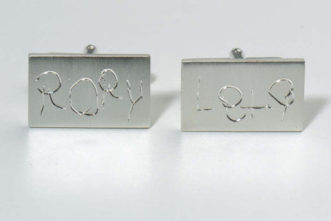 Cufflinks-children's-handwriting