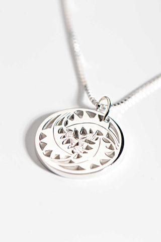 Affinity engraved necklace in rose gold and silver