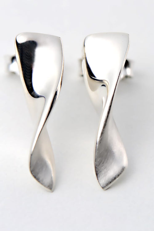 Twist earrings silver