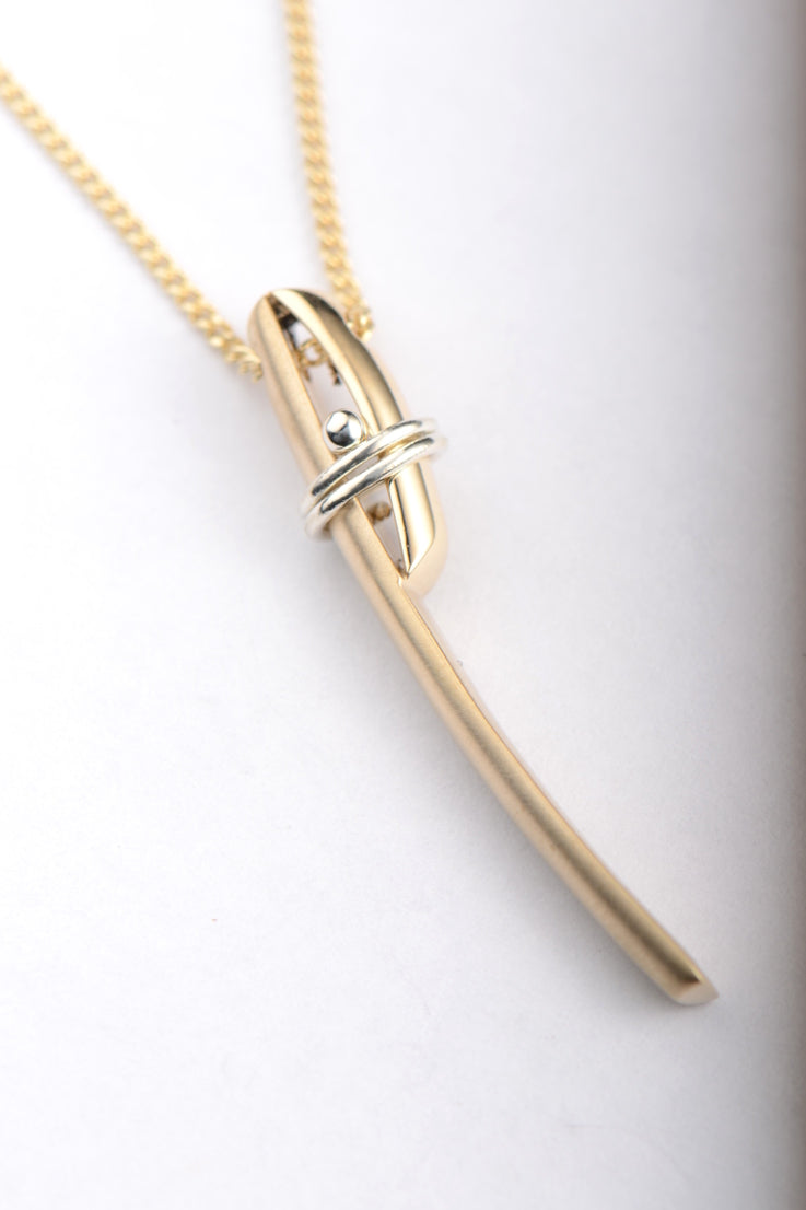 Stay Together 9ct yellow and white gold pendant