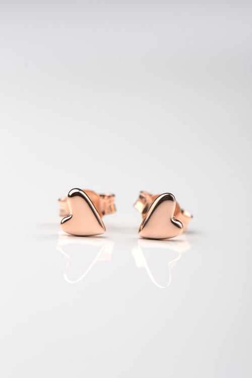 From the heart rose gold earrings - Unforgettable Jewellery