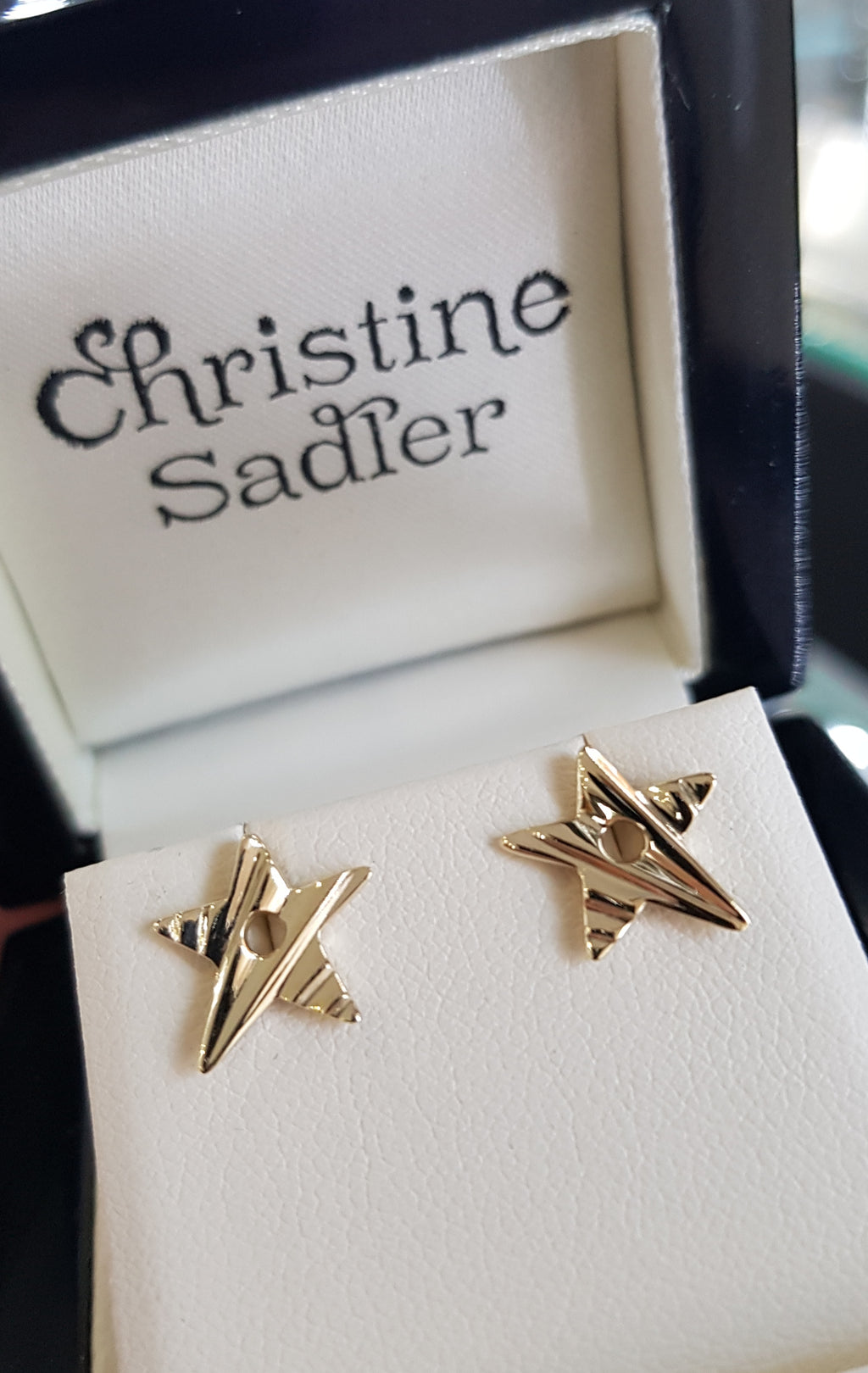 Falling Star Starlight Gold Earrings