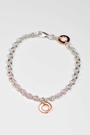 Affinity rose gold and silver bracelet - Unforgettable Jewellery