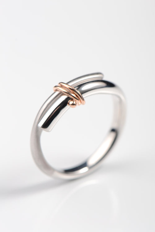 Stay Together white and rose gold ring
