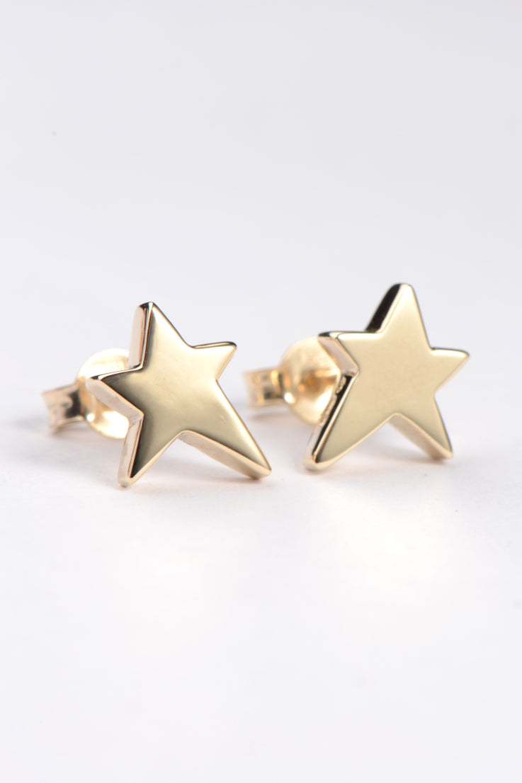 Falling Star yellow gold earrings - Unforgettable Jewellery