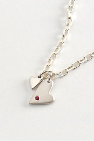 From the heart ruby pendant - Unforgettable Jewellery