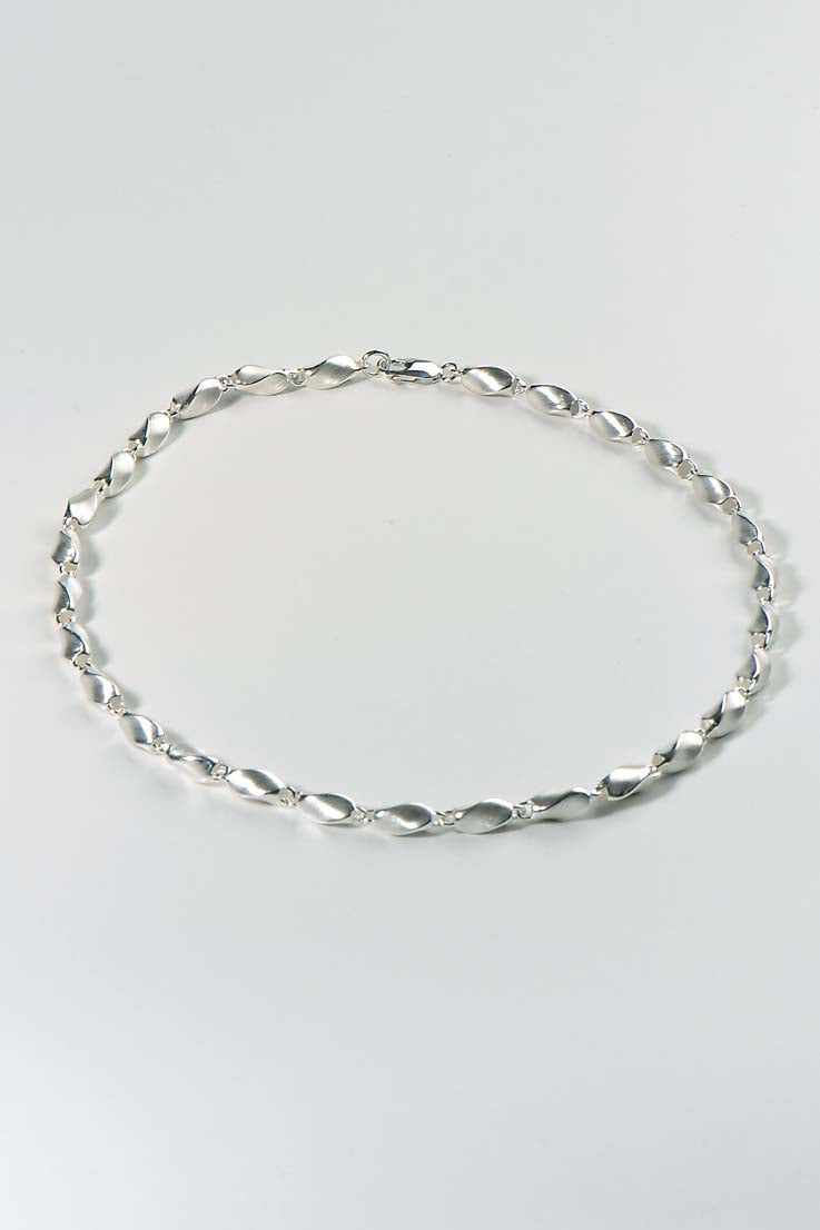 handmade silver twist chain - Unforgettable Jewellery