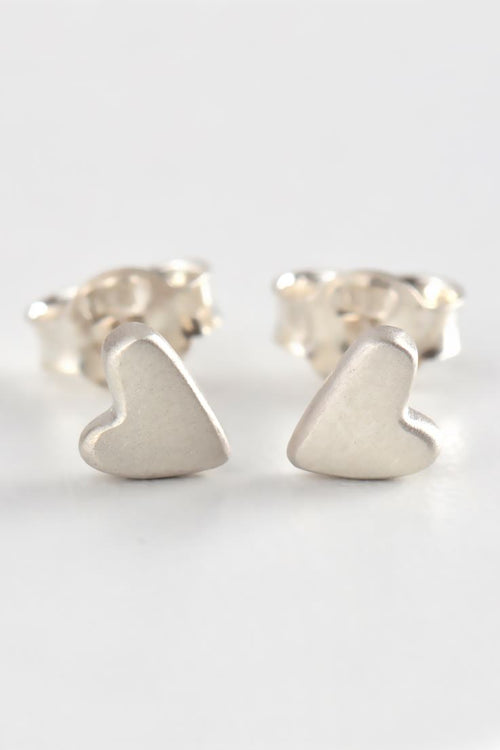 From the heart small heart studs