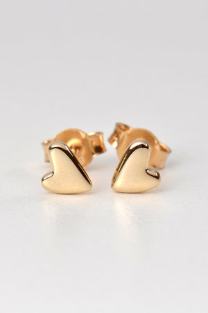 From the heart earrings gold small - Unforgettable Jewellery