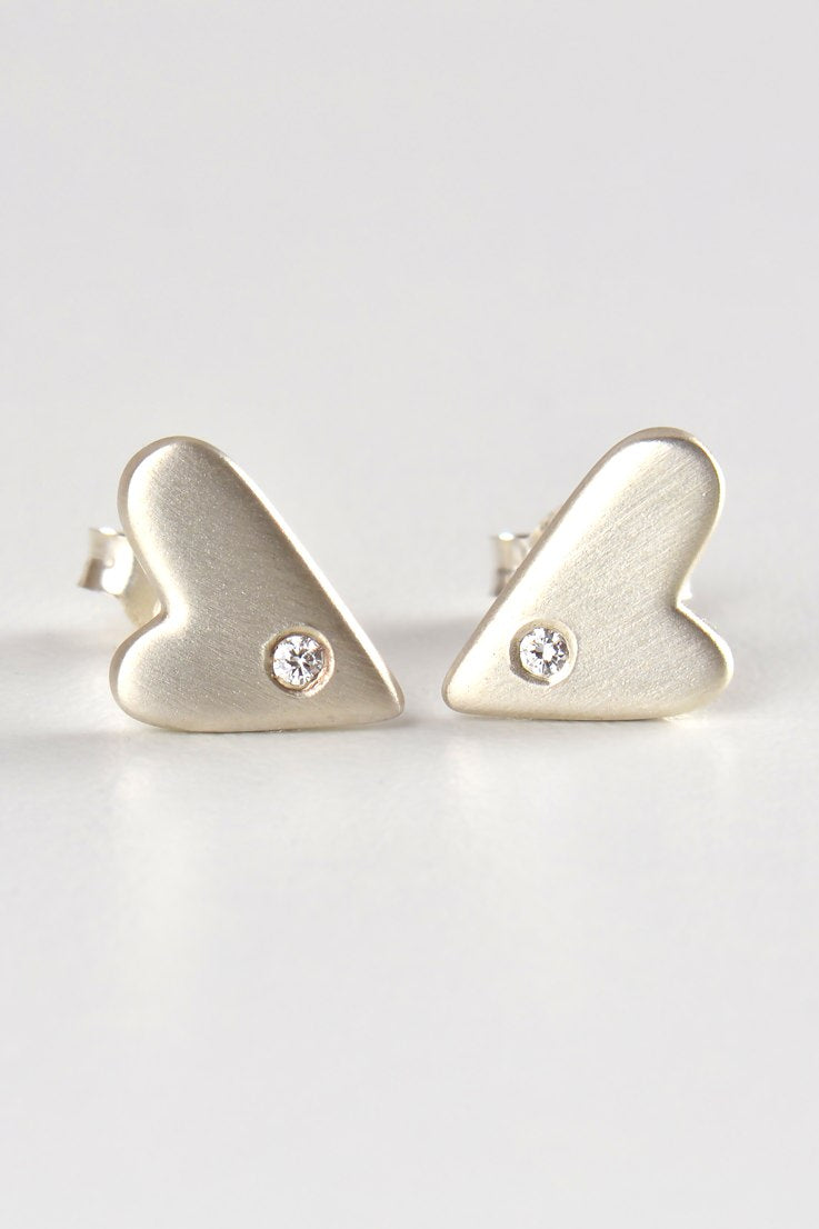 From the heart large diamond studs