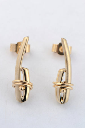 Stay Together 9ct gold short earrings