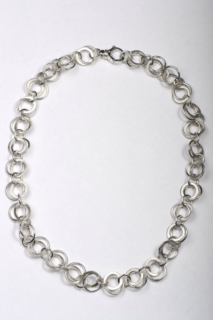 handmade silver circles chain - Unforgettable Jewellery