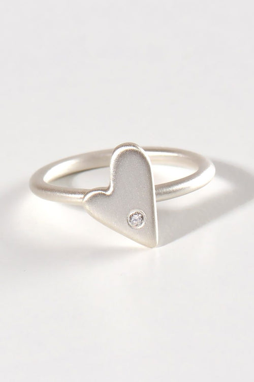 From the heart large heart diamond ring - Unforgettable Jewellery