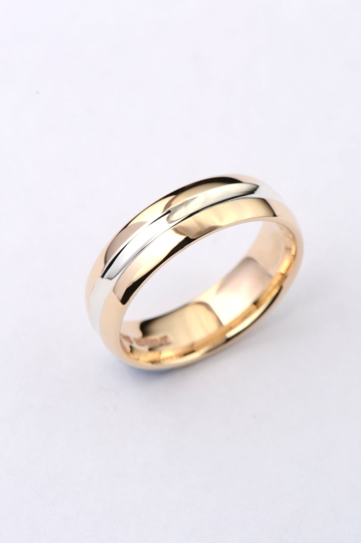 6mm 9ct gold wedding band - Unforgettable Jewellery