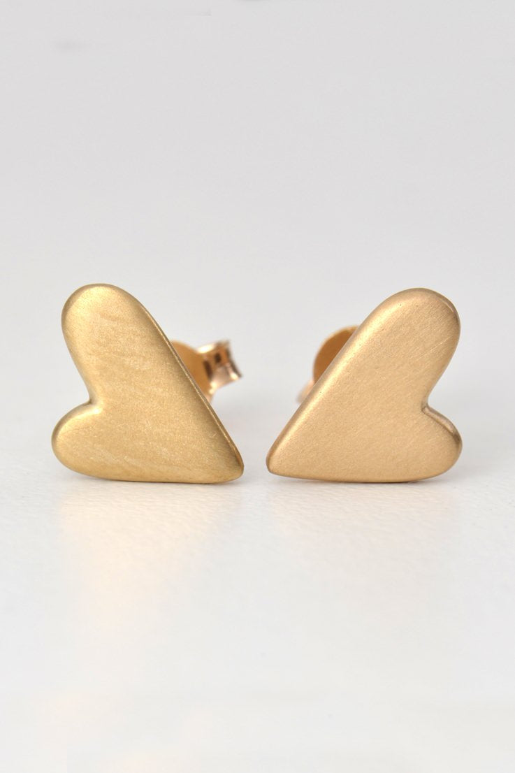 From the heart earrings gold large - Unforgettable Jewellery