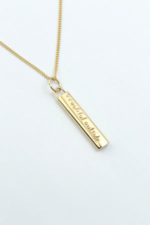 Beautiful long gold pendant - Unforgettable Jewellery