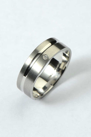 3mm 18ct white gold diamond band