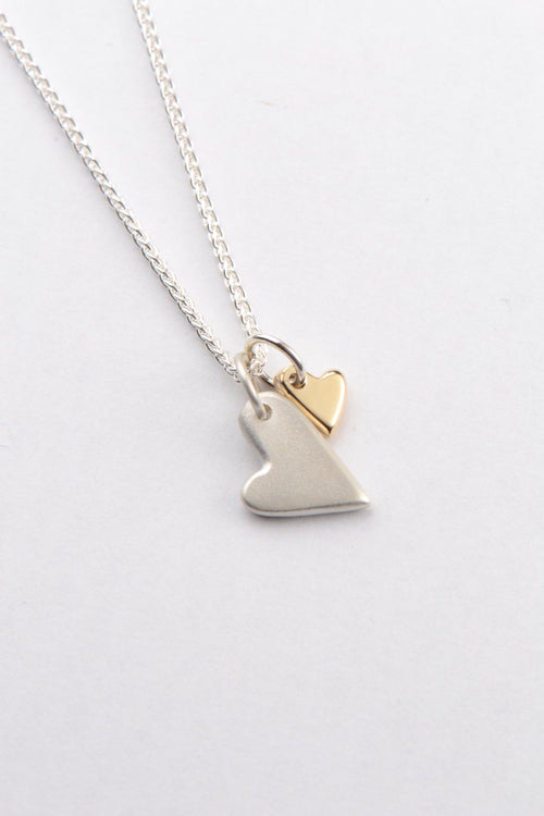 From the heart silver and 9ct yellow gold heart pendant