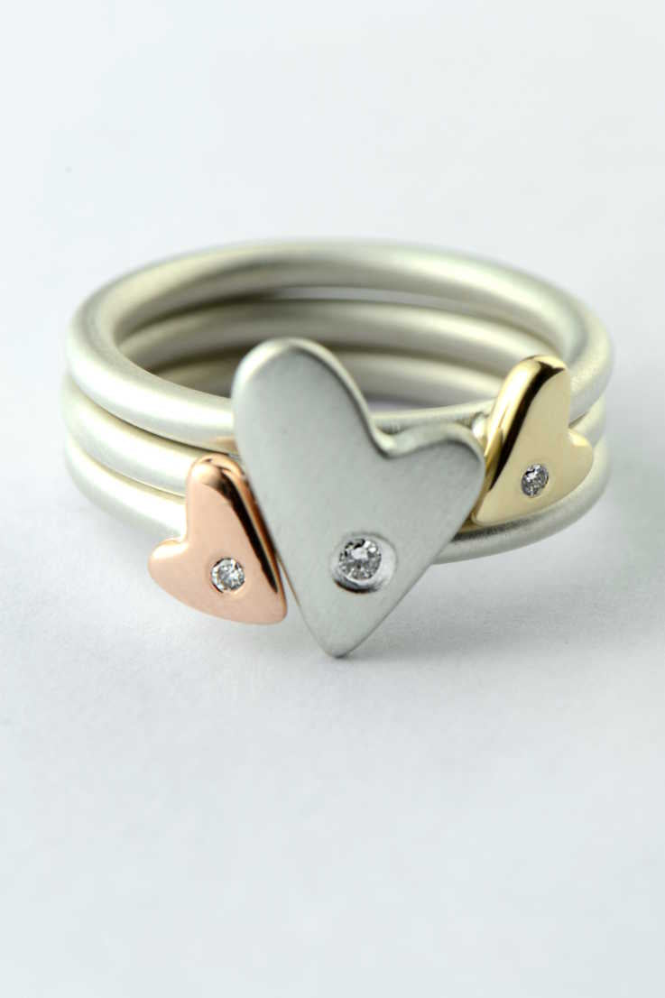 From the heart triple heart diamond ring - Unforgettable Jewellery