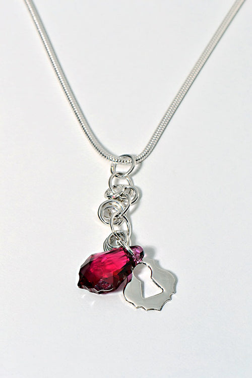 Watch me pendant red
