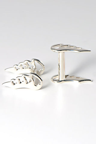 AK four square cufflinks