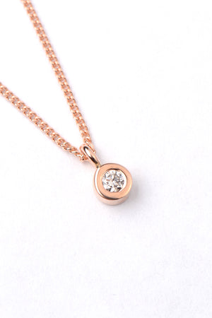 Cairn rose gold and diamond pendant - Unforgettable Jewellery