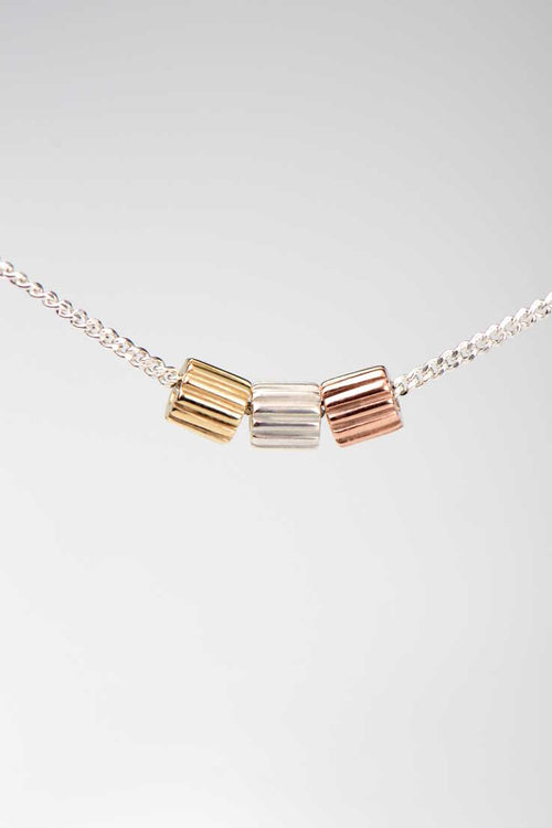 Bella Figura Ditalini three colour pendant