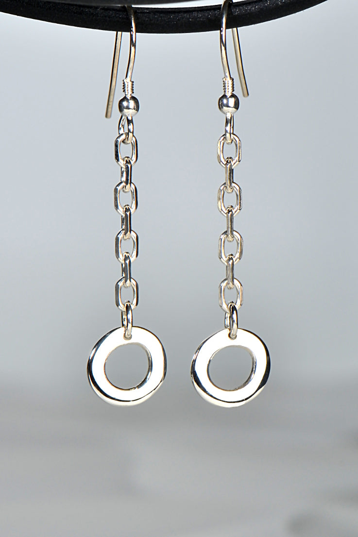 Affinity silver drop earrings