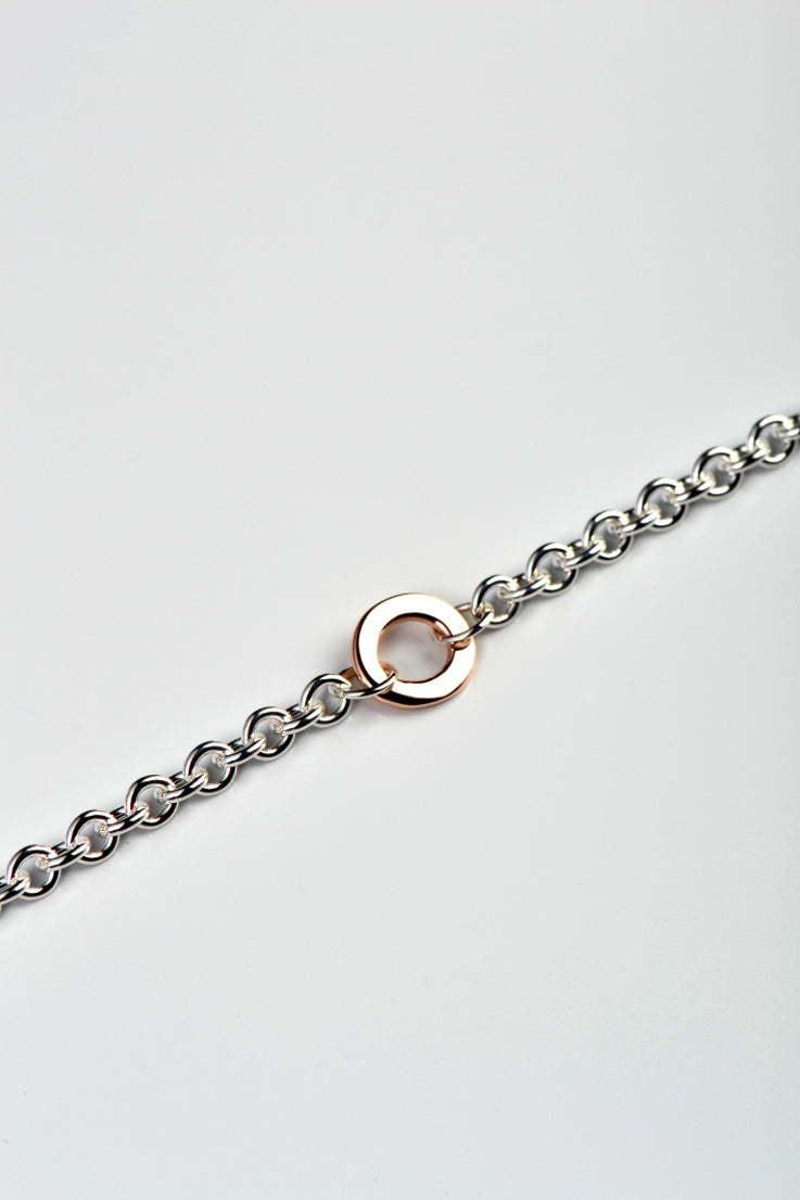 Affinity rose gold and silver bracelet