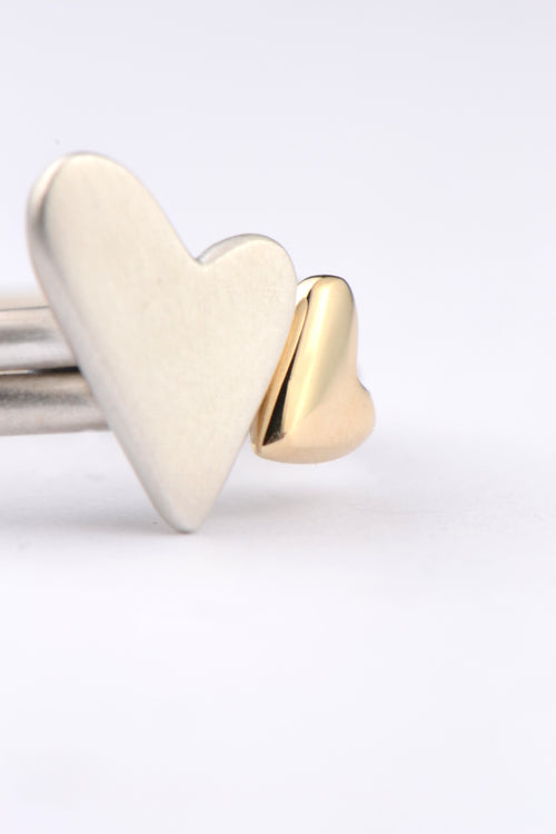 From the heart silver and yellow gold rings - Unforgettable Jewellery