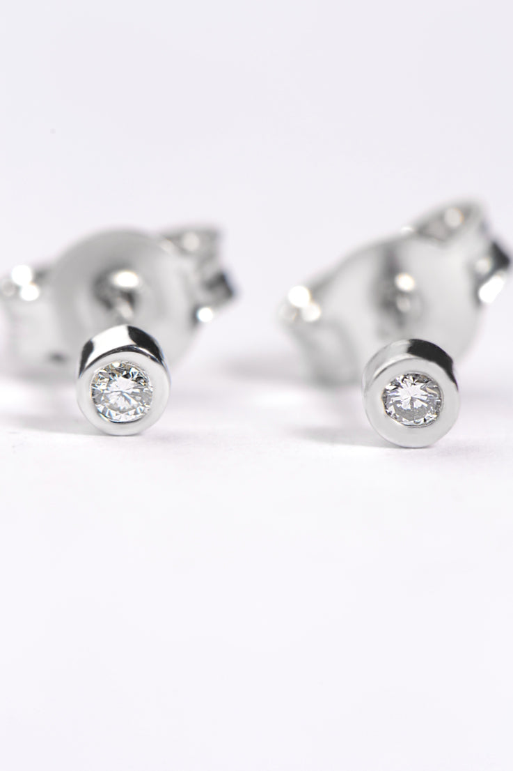 Cairn white diamond petite earrings - Unforgettable Jewellery