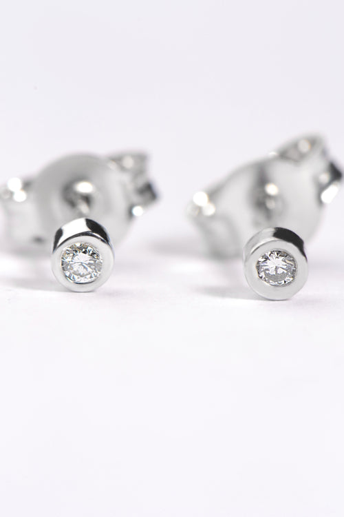 Cairn white diamond petite earrings
