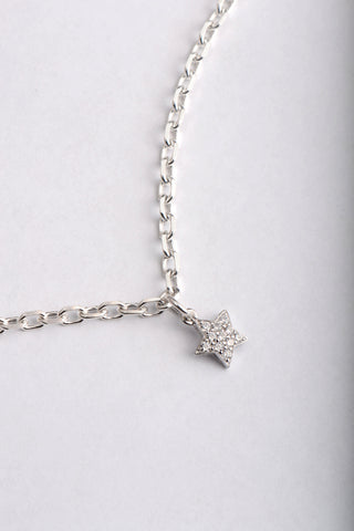 Falling Star polished bracelet with diamond