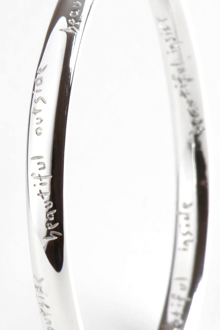 Beautiful Ribbon Engraved Bangle - Unforgettable Jewellery