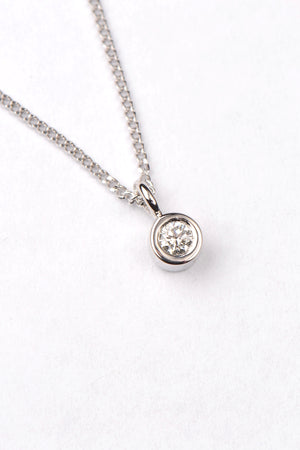 Cairn white gold and diamond pendant - Unforgettable Jewellery