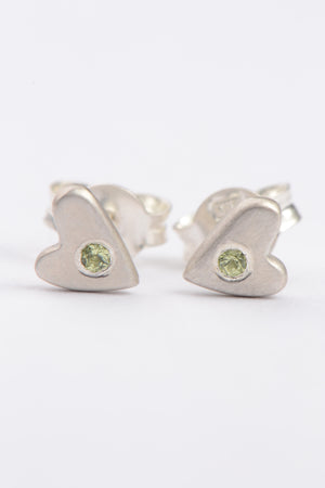 From the heart birthstone studs - Unforgettable Jewellery