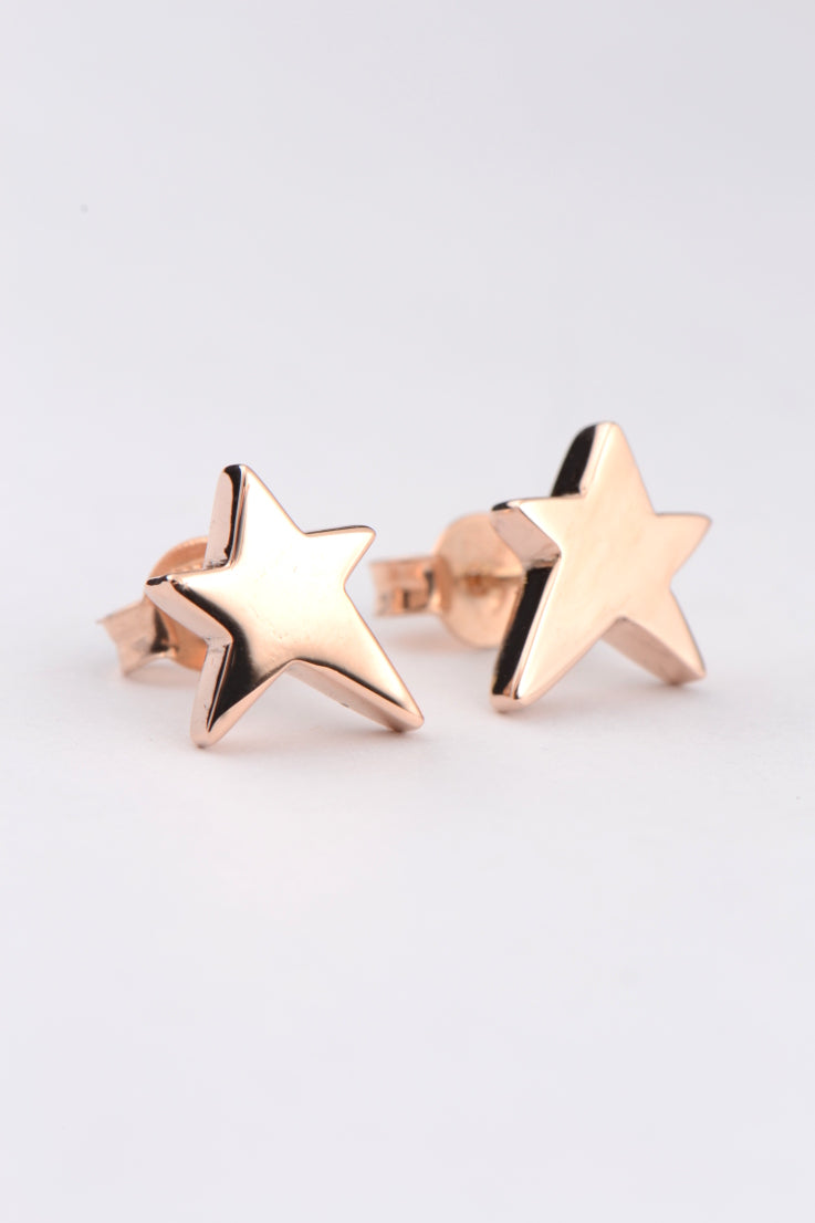 Falling Star 9ct rose gold earrings - Unforgettable Jewellery