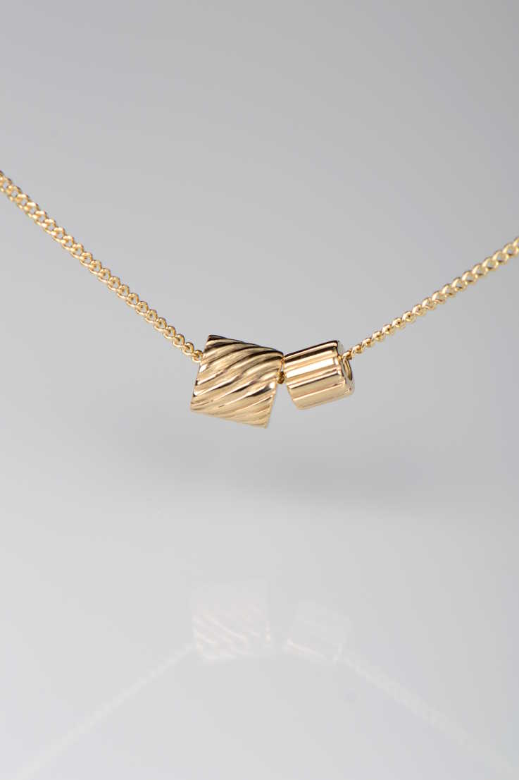 Bella Figura Ditalini and Ditali gold pendant - Unforgettable Jewellery