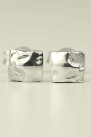 Cairn yellow gold and diamond studs